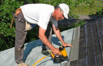 Jack is one of our North Highlands roofing contracfors and he repairs a roof